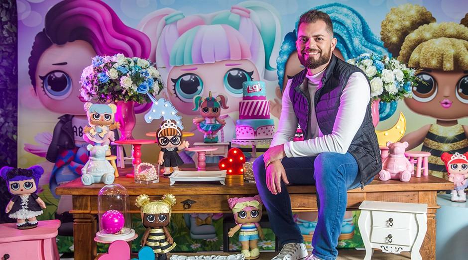 André de Oliveira é proprietário da Pepe's Park, um buffet especializado em festas e eventos infantis. (Foto: Sebrae-SP)