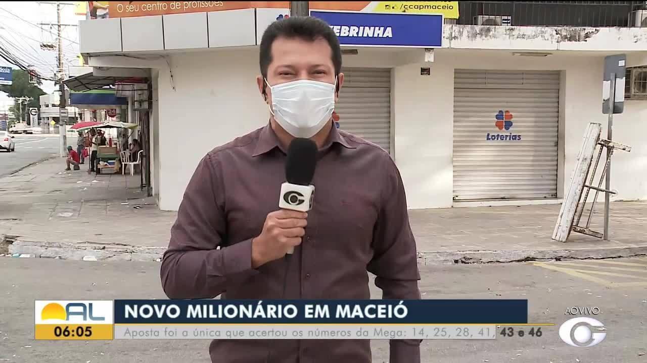 Aposta de Maceió ganha mais de R$ 3 milhões na Mega-Sena