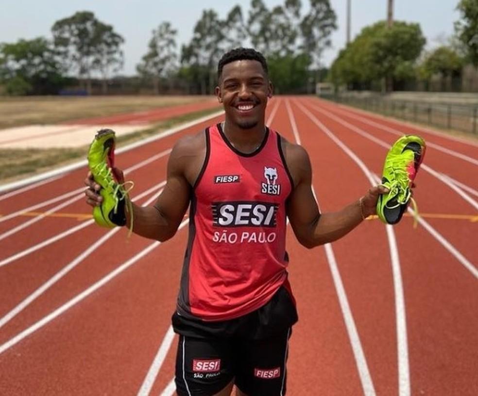Erik Felipe, revelação de 21 anos que já é o 2º mais rápido do Brasil