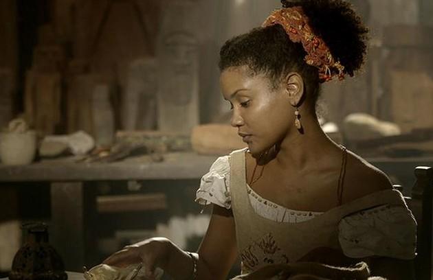 Na quarta-feira (29), com a ajuda de Zayla (Heslaine Vieira), Pilar se encontrará com Dolores para tentar convencê-la a não se casar, mas é rejeitada (Foto: TV Globo)