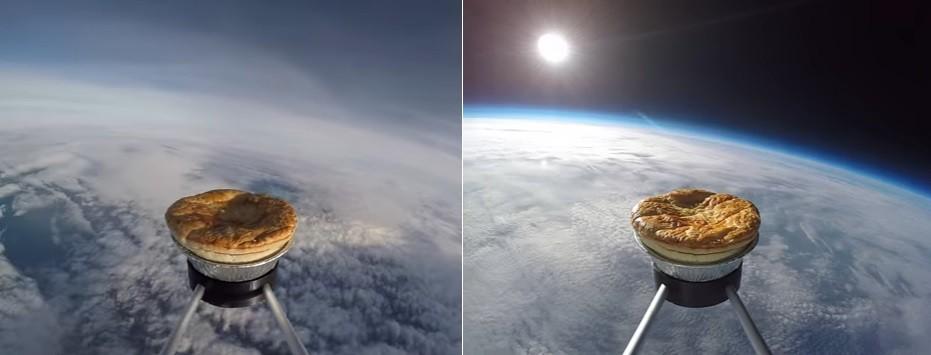 A torta de carne no espaço