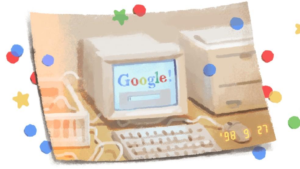 Doodle comemora 21 anos de fundação do Google — Foto: Reprodução/Google