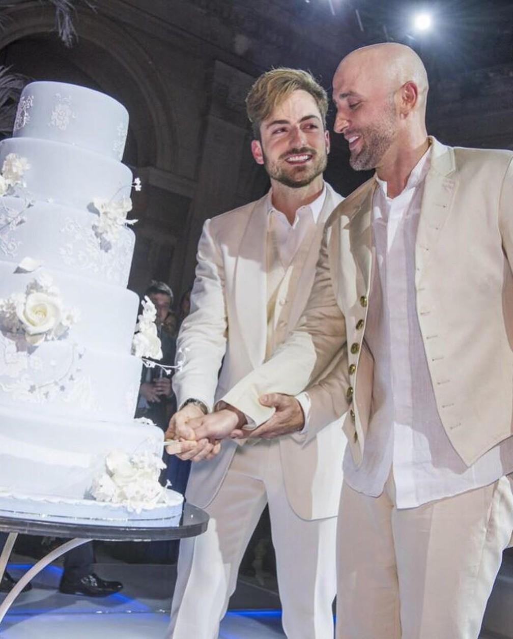Casamento de Paulo Gustavo e Thales Bretas influenciou cena de 'Minha Mãe É uma Peça 3' — Foto: Reprodução/Instagram/PauloGustavo