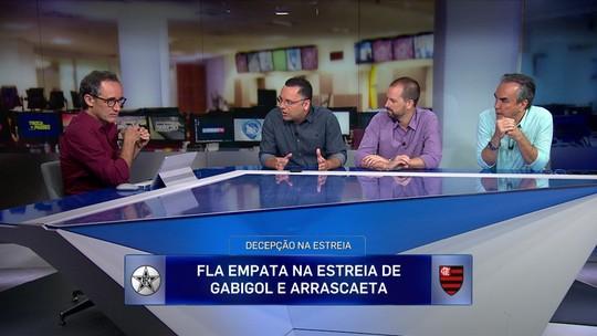 """Jornalista diz que time B impede análise sobre estreia de Gabigol e Arrascaeta no Flamengo: """"Impossível"""""""