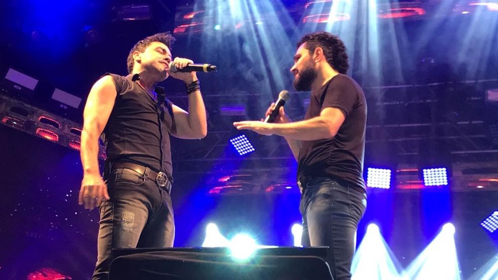 Zezé Di Camargo e Luciano  â?? Foto: Mayara Corrêa/G1