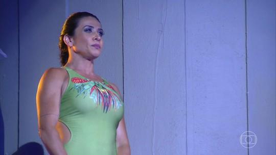 Scheila Carvalho se mostra confiante para a final do 'Saltibum': 'Tá com medo? Vai com medo mesmo'