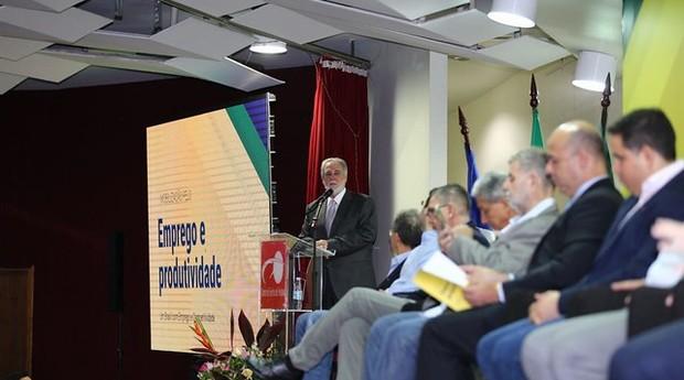 O presidente do Sebrae, Carlos Melles, ressaltou a importância dos pequenos negócios para o desenvolvimento do país.  (Foto: Divulgação)