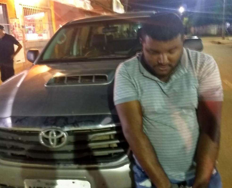 Suspeito disse ter comprado caminhonete por R$ 3 mil em Porto Velho — Foto: Divulgação/Polícia Civil