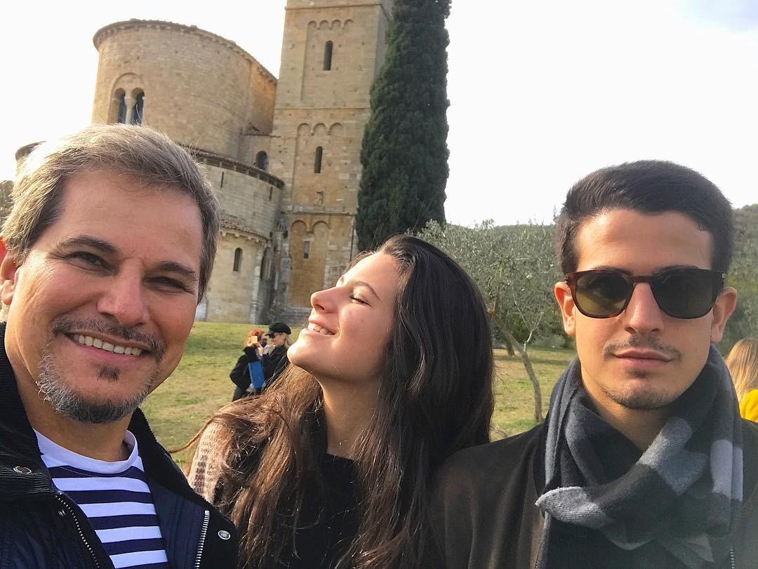 Edson, Enzo e Soia Celulari (Foto: Reprodução Instagram)
