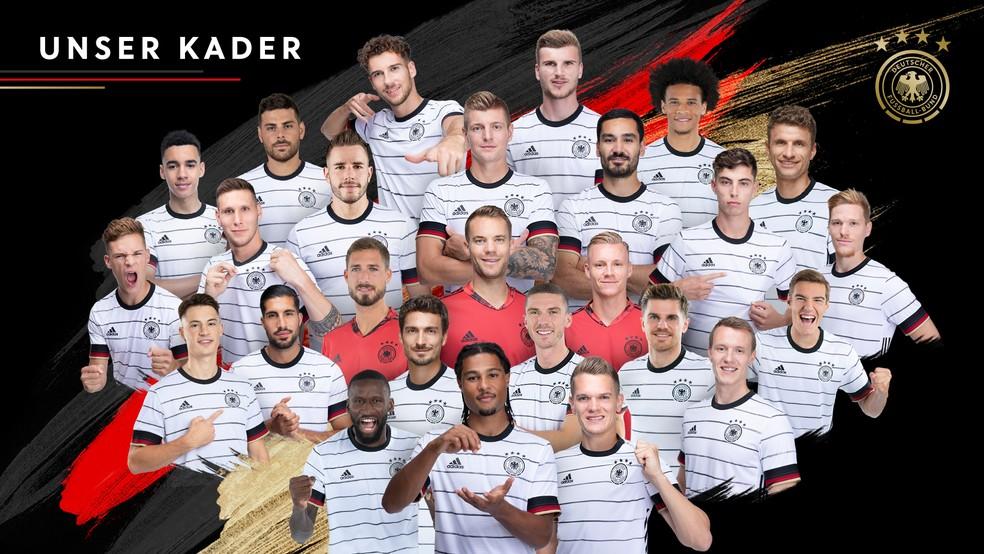 Convocação da Alemanha para a Eurocopa tem 26 nomes — Foto: Reprodução/Twitter