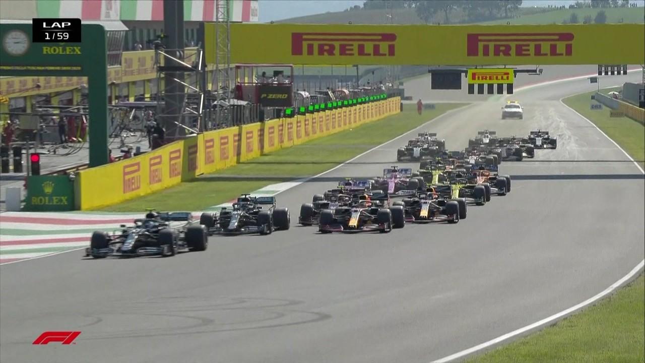 Confira a largada do GP da Toscana deFórmula1
