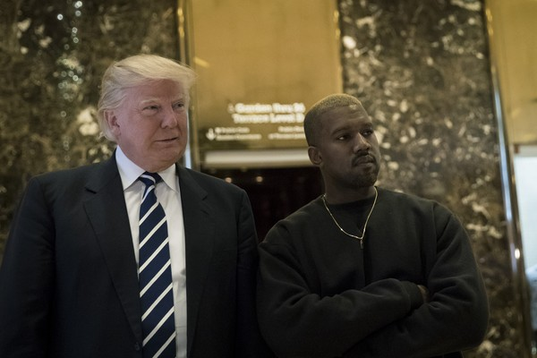 Donald Trump e Kanye West (Foto: Getty Images)