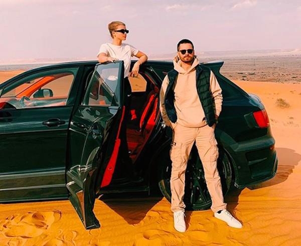 A modelo Sofia Richie de férias na Arábia Saudita na companhia do namorado, Scott Disick (Foto: Instagram)