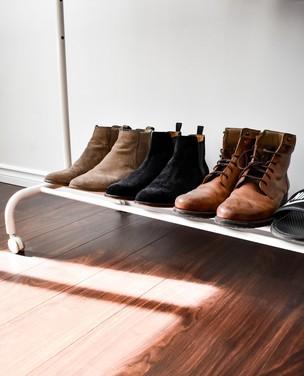 8 ideias para acomodar sapatos no hall