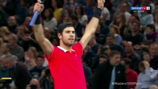 Os pontos finais de Thiem 0 x 2 Khachanov pelas semifinais do Masters 1000 de Paris