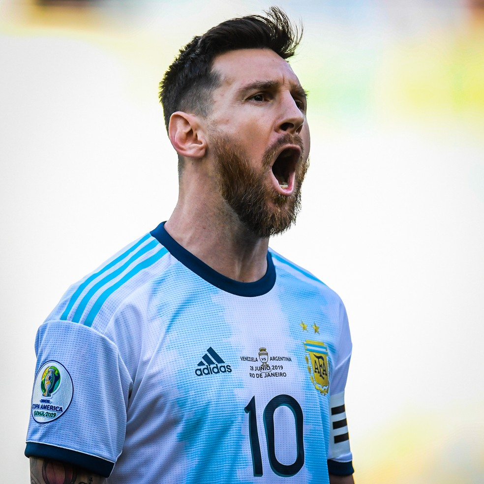 Messi em ação durante Argentina x Venezuela no Maracanã — Foto: Jorge R Jorge/BP Filmes
