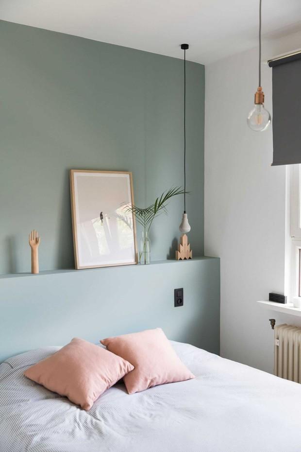 Décor do dia: quarto feminino decorado com verde e rosa (Foto: Reprodução)