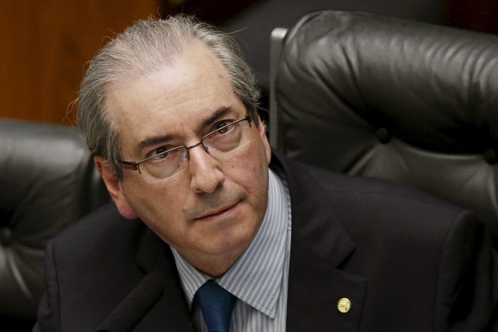 Eduardo Cunha é interrogado por Moro nesta quarta-feira (31), no processo da Lava Jato que investiga suspeita de um esquema de corrupção em contratos de navios-sonda — Foto: Ueslei Marcelino/Reuters