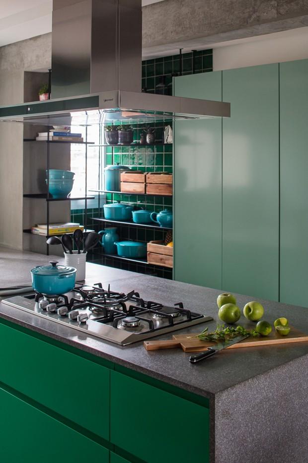 Décor do dia: tons de verde na cozinha (Foto: Gui Gomes)