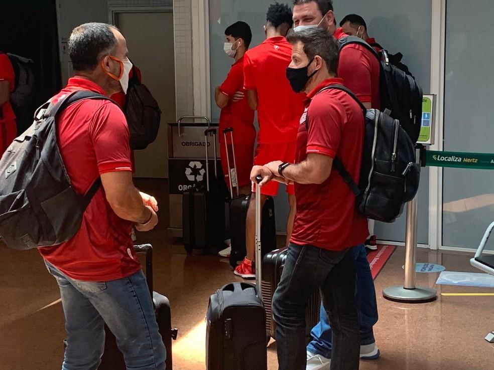 Ramon Menezes não vai contar com o atacante Pablo Dyego — Foto: Pedro Ferro/TV Gazeta