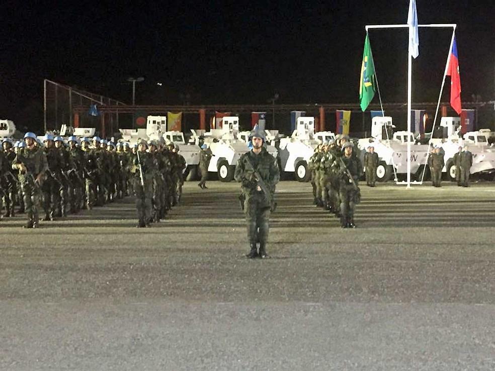 Brasil encerra participação na missão de paz da ONU no Haiti (Foto: Tahiane Stochero / G1)