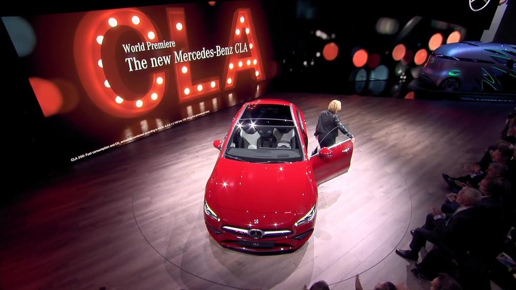 b59b05b53 ... Mercedes-Benz revela nova geração do CLA na CES 2019 — Foto: Mercedes-