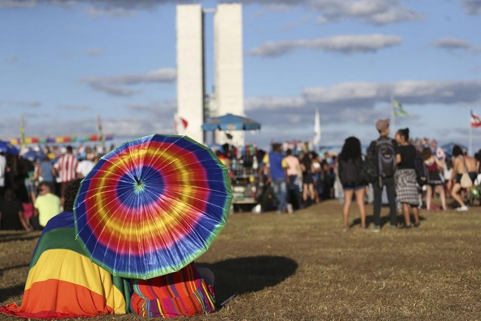 Parada LGBT de Brasília — Foto: José Cruz/Agência Brasil