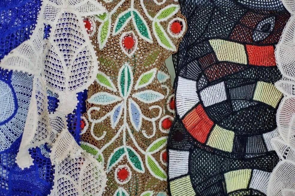 Coleção produzida por rendeiras da PB homenageia Zuzu Angel no São Paulo Fashion Week — Foto: Secom-PB/Divulgação