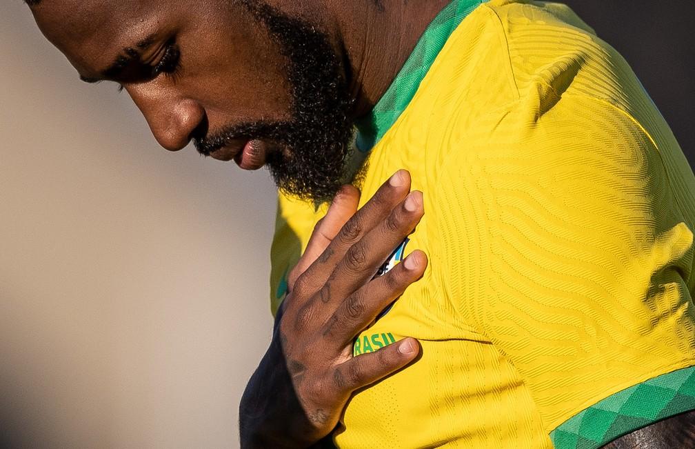 Gerson estreou na seleção principal nos jogos do início de setembro e foi chamado novamente — Foto: Ricardo Nogueira/CBF