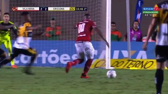 Veja os melhores momentos do jogo entre Vila Nova e Criciúma