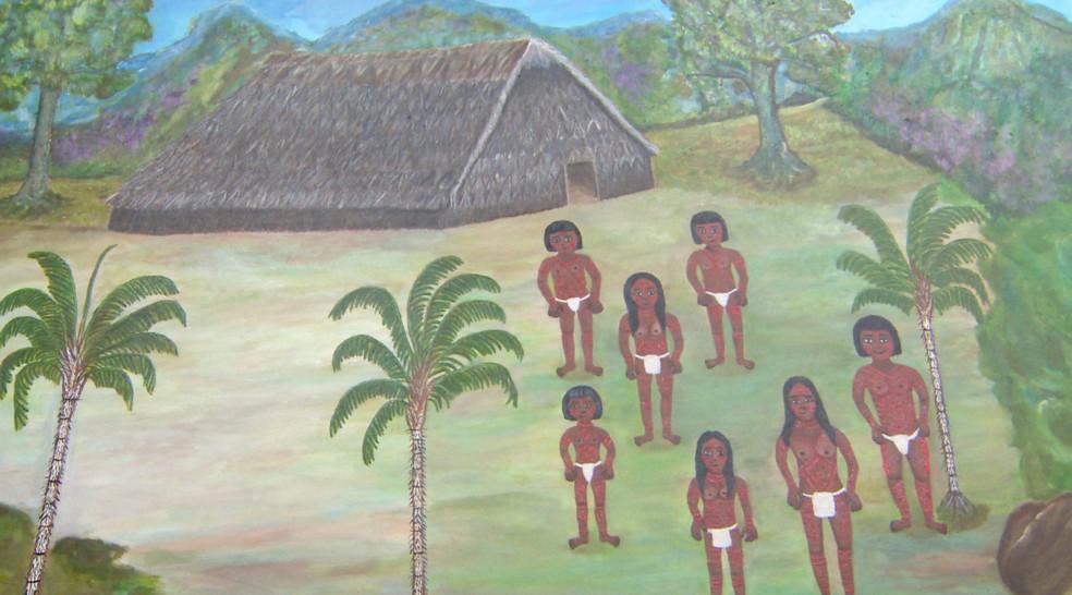 Artes de Duhigó representam tradições de seu povo através de lembranças da artista. — Foto: João Floriano/Rede Amazônica