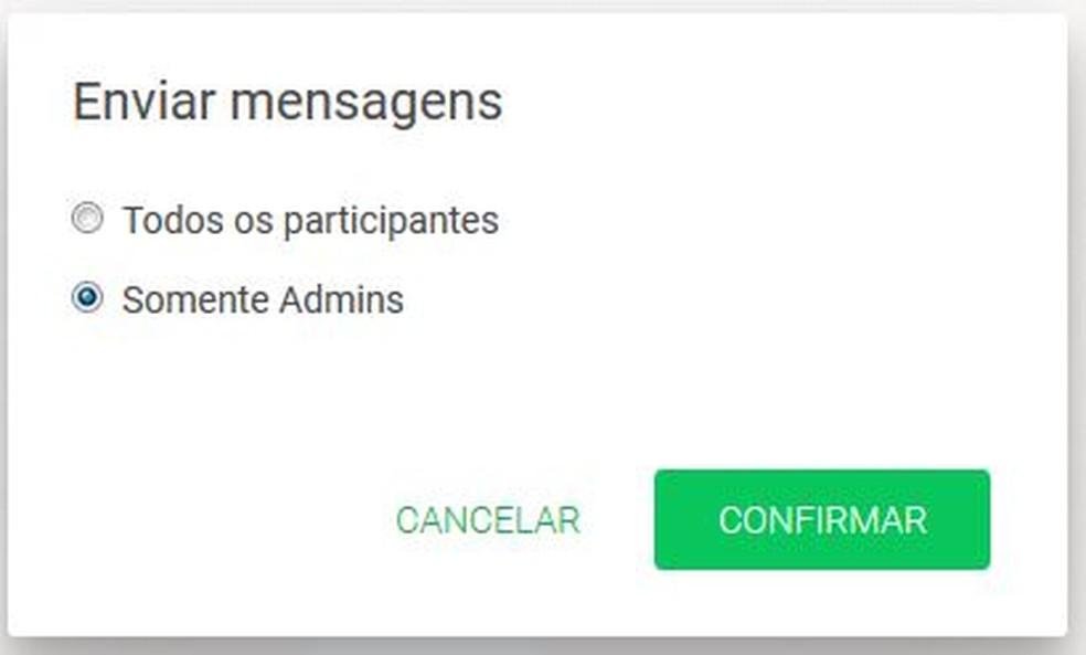 Nova função do Whatsapp, habilitada nesta sexta-feira (29) (Foto: Reprodução)