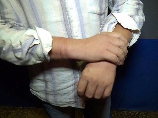 Taxista foi chamado para atender dois passageiros, foi assaltado e amarrado (Foto: Lucas Torres/ Portal Sorriso)
