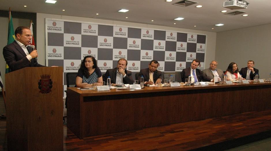 Seminário sobre o Projeto CITI contou com a presença do prefeito João Doria e do ministro Gilberto Kassab (Foto: Prefeitura de São Paulo / Divulgação)