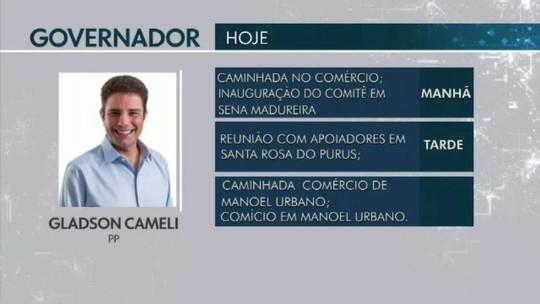 Confira a agenda dos candidatos ao Governo do Acre em 7 de setembro