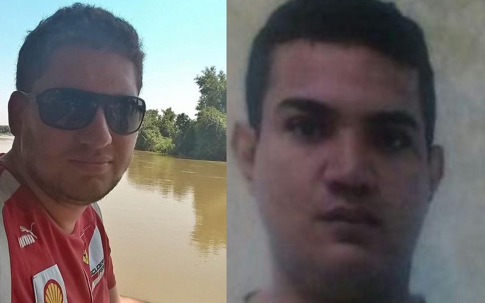 Vítimas foram identificadas como Gilson Douglas (à esquerda) e Nilson Santana de Oliveira (à direita) (Foto: Divulgação/Fronteira Alerta)