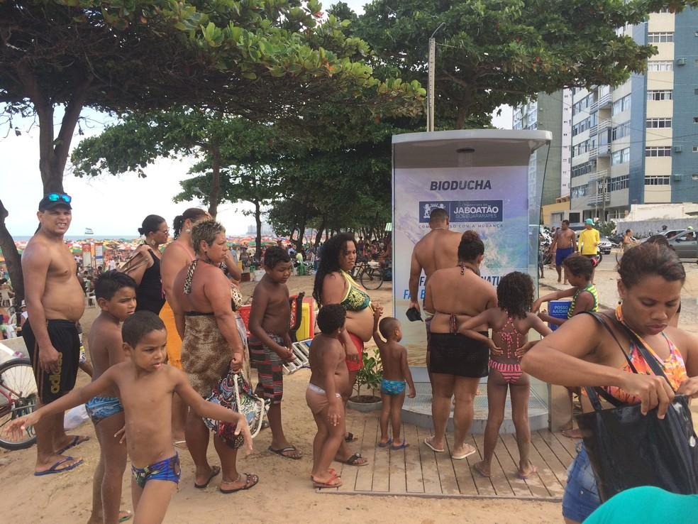 Sete bioduchas foram instaladas na orla de Jaboatão dos Guararapes (Foto: Divulgação/Prefeitura de Jaboatão)