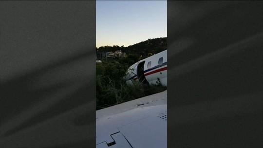Avião com DJ Alok sai da pista durante decolagem em Juiz de Fora