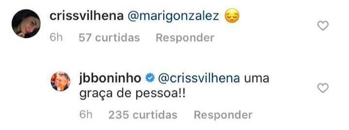 Boninho responde fã de 'BBB' no Instagram (Foto: Reprodução)