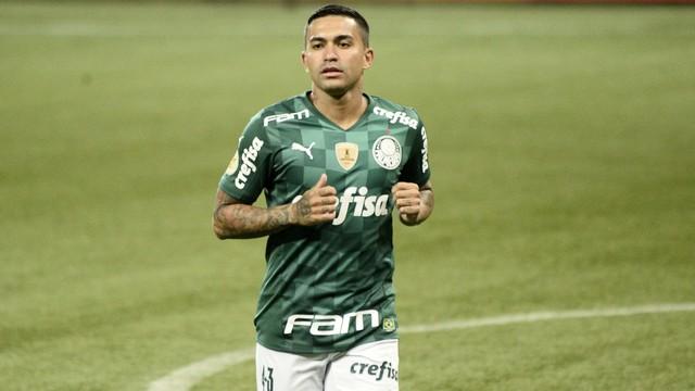 Dudu durante Palmeiras x Santos