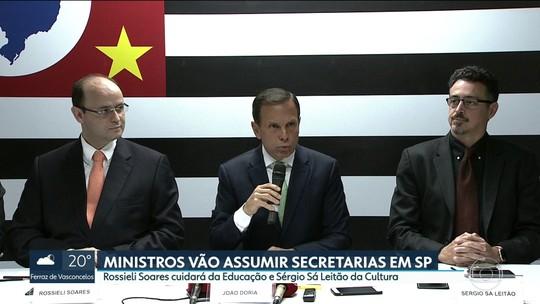Doria anuncia ministros da Educação e da Cultura de Temer como secretários das pastas em SP