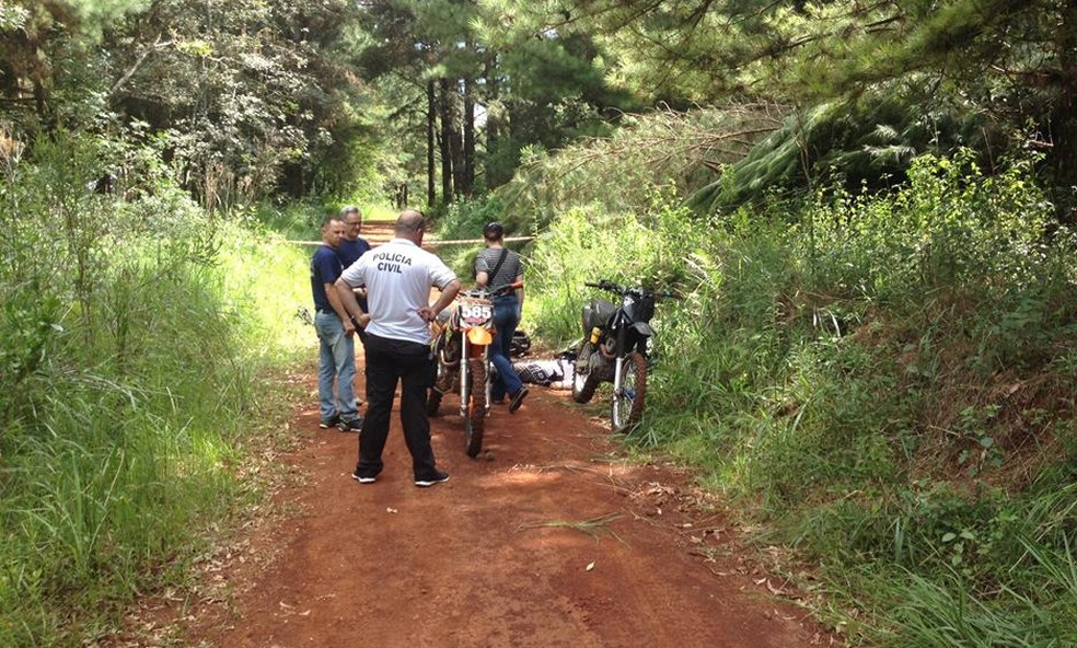 Dois homens foram mortos no Parque da Cidade, em Carazinho (Foto: Tiago Borges/Grupo Gazeta )