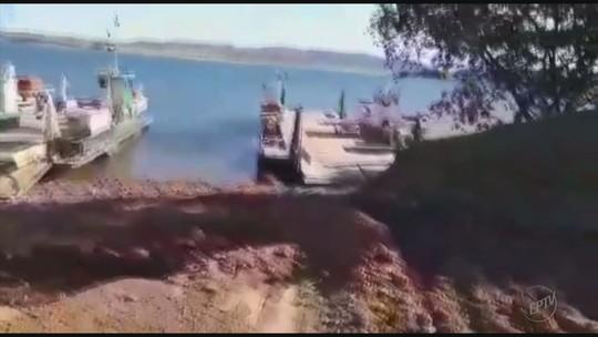 Funcionamento de duas balsas está suspenso no Lago de Furnas em MG