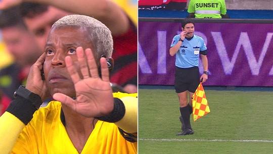 És...Adriano e Júlio Cesar comemoram, com VAR da galera e Chapolin na festa do Maracanã