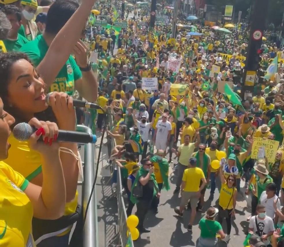 Prefeita de Bauru, Suéllen Rosim, é multada por governo estadual por falta do uso de máscara — Foto: Reprodução/Instagram