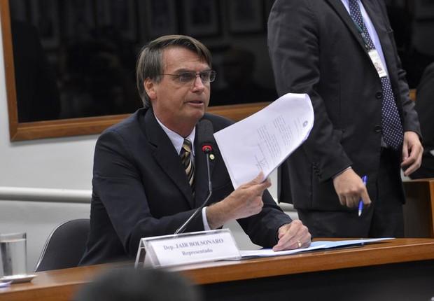 O deputado Jair Bolsonaro  (Foto: Wilson Dias/Agência Brasil)