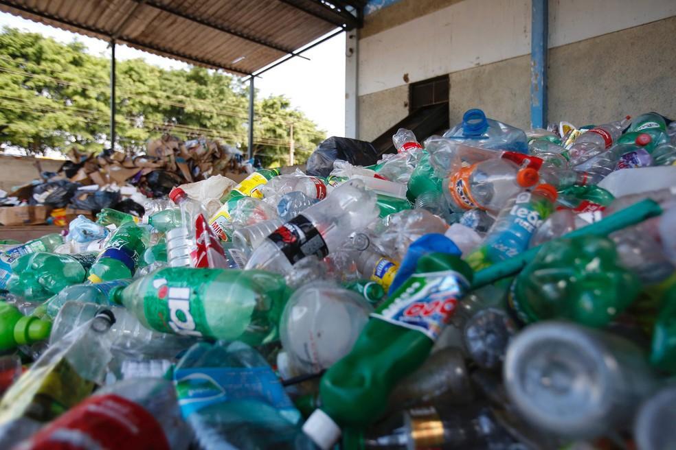 Posto de coleta seletiva em Ceilândia, no DF (Foto: Dênio Simões/Agência Brasília)