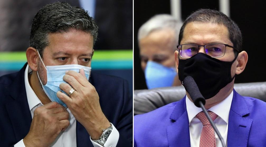 Arthur Lira, presidente da Câmara, e Marcelo Ramos, vice-presidente da Casa — Foto: Montagem/G1