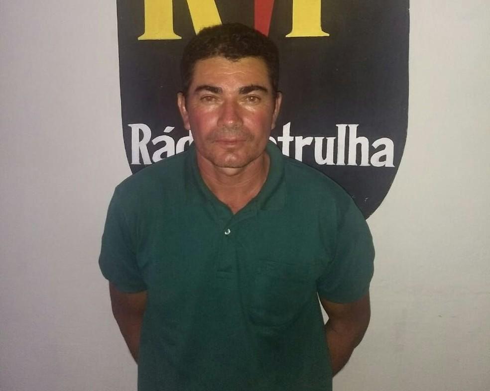 Pedreiro Marcondes Gomes da Silva foi preso no litoral potiguar — Foto: PM/Divulgação