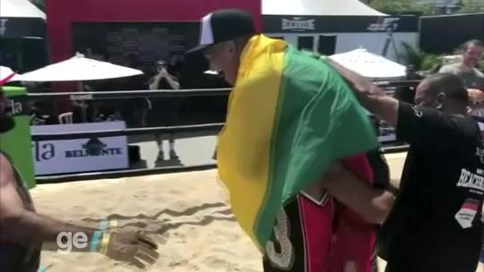 """""""As portas vão se abrir"""", confia Matheus Pinheiro após triunfo no BeachBoxing"""